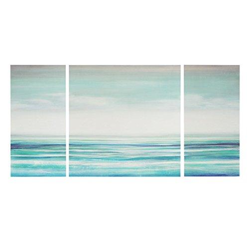 Madison Park Teal Tides Gel Coat Canvas Blue See Below