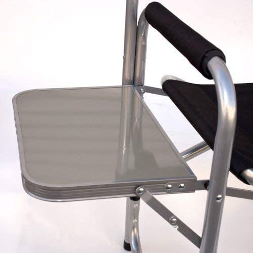 Earth Products Store Extra Heavy Duty Short Directors Chair with Convenient Side Table