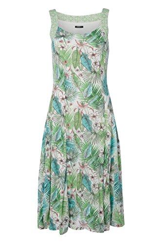 Tropical Multicolore Ete Croisire Manches Printemps Mi Roman Vert Longue Vacances sans Originals Floral Robe 1OwpSqxZpI
