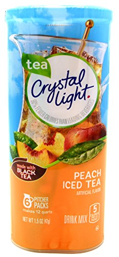 Crystal Light Peach Iced Tea Drink Mix, 12-Quart Canister (Pack of 22) by Crystal Light
