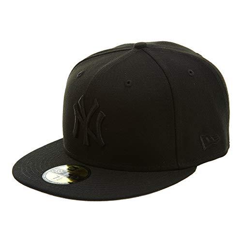 New Era 59Fifty Hat MLB Basic New York Yankees Black/Black Fitted Baseball Cap (7 ()