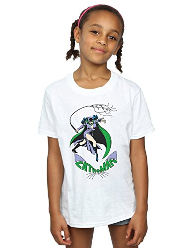 DC Comics Girls Catwoman Whip T-Shirt 9-11 Years White