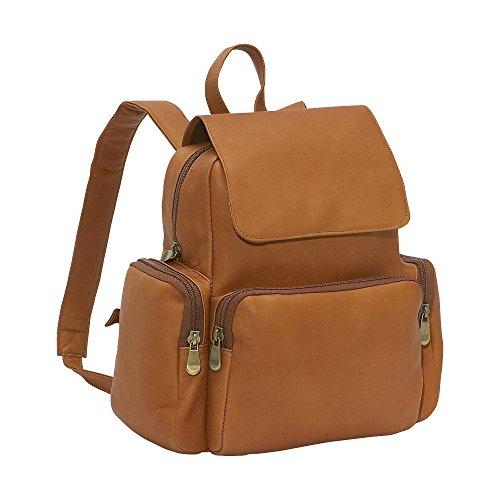 Pocket Leather Multi Women's Tan Donne Le Purse Back Pack vRq11Ap