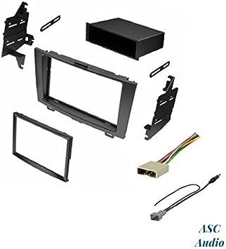 ASC Audio Car Stereo Dash Install Kit, arnés de cable y adaptador de antena para instalar una radio de posventa para 2007 2008 2009 2010 2011 Honda ...
