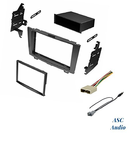 ASC Audio Car Stereo Dash Install Kit, Wire Harness, and Antenna Adapter for Installing an Aftermarket Radio for 2007 2008 2009 2010 2011 Honda CRV CR-V (No Factory NAV) - Crv Radio