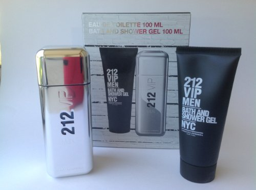 212 VIP by Carolina Herrera for Men Travel/Gift Set 2 PC (3.4 oz EDT + 3.4 oz After Shave) by Carolina Herrera