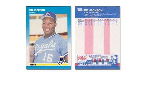 Shipped In Protective Display Case! 1987 Fleer Bo Jackson Rookie Baseball Card #369