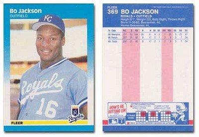 1987 Fleer Bo Jackson Rookie Baseball Card 369 Shipped In Protective Display Case