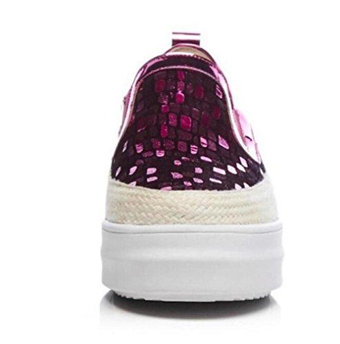 Redonda Casuales De Mujer Zapatos De Plataforma Zapatos Cabeza RoseRed MUYII De 17Rzqwx
