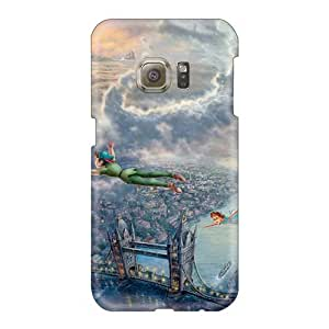 AshleySimms Samsung Galaxy S6 Anti-Scratch Hard Cell-phone Case Unique Design Beautiful Peter Pan Image [kHy29454deey]