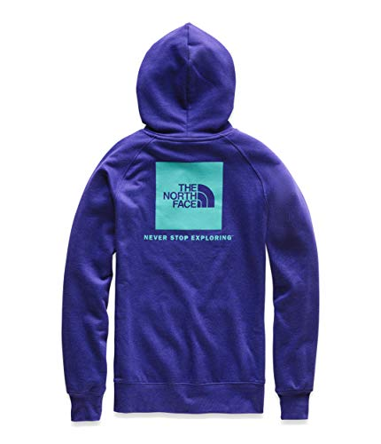 - The North Face Women's Red Box Pullover Hoodie Aztec Blue/Ion Blue Small