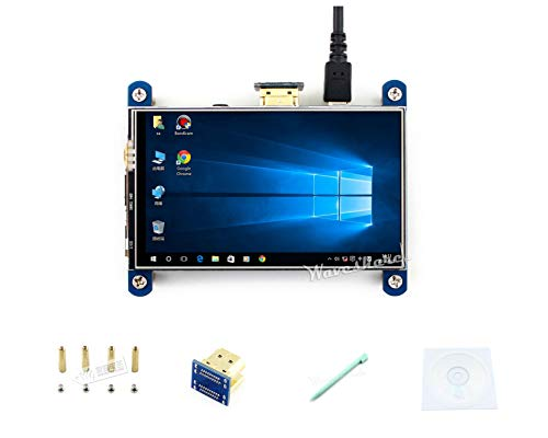 4inch Raspberry pi HDMI LCD Display Module 800x480 Resistive Touch IPS Screen Supports All Revsions of Raspberry Pi 3 Model B/3B+/2 B/B+ /A Drivers Provided