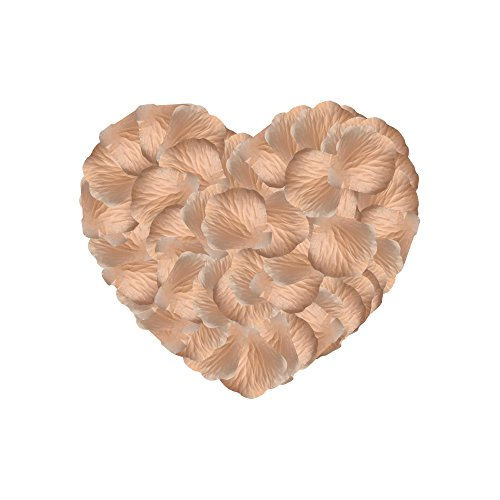 Neo LOONS 1000 Pcs Artificial Silk Rose Petals Decoration Wedding Party Color Light Peach -