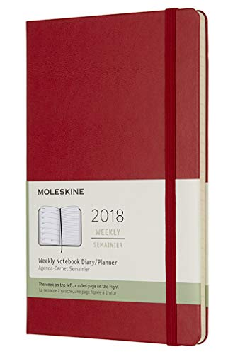 Moleskine Classic 12 Month 2018 Weekly Planner, Hard Cover, Large (5