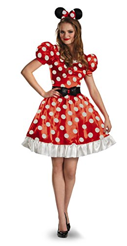 Minnie Mouse Costume Cheap (Disney Disguise Women's Red Minnie Mouse Classic Costume, Red/Black/White,)