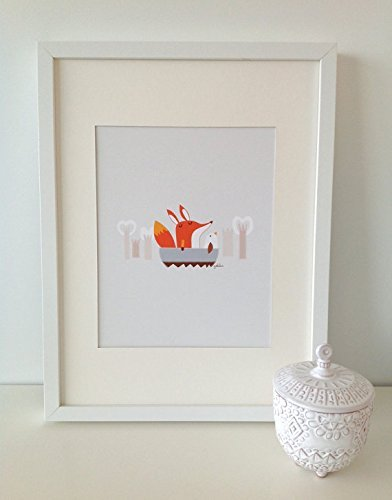 Paolo The Fox 3 // FOX Print // Fox Wall Art // Woodland Baby Nursery Decor