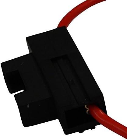 Aerzetix Fassung Für Kfz Sicherung 19mm 20a Max 2 5mm2 Halter Sicherungshalter Für Sicherungen Auto