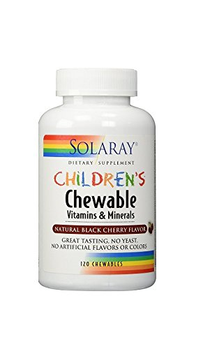 Solaray Children's Chewable Vitamins & Minerals, Black Cherry Flavor, 120 (Kids 120 Chewable)