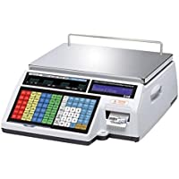 CAS CL5000B Label Printing Scale 60 lb x 0.02 lb / Ethernet card installed / with Full Body Wet Cover, Dual Range,NTEP,Legal For Trade,New by CAS