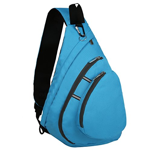 Bekahizar Sling Backpack Bag Crossbody One Shoulder Day Bag Chest Shoulder Pack for Men Women Outdoor Sports Hiking Travel and Day Trips (Blue) by Bekahizar