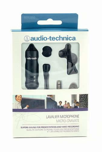 Audio-Technica ATR-3350 Lavalier Omnidirectional Condenser Microphone