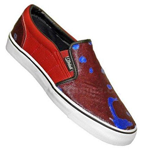 Vox Skateboard Slip On Schuhe Drehobl Slip Red/Mange