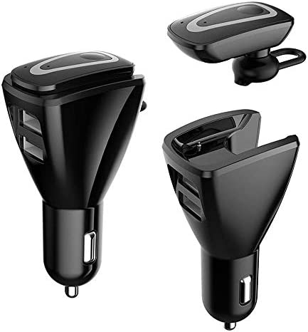 Bluetooth Headset with USB Car Charger 2 Port for phone