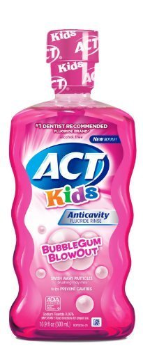 ACT Kids Anticavity Fluoride Rinse, Bubble Gum Blow Out 16.9 oz (Pack of - Bubble Rinse