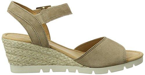 Sandalias con Walnut 43 841 Marrón Cuña Mujer 62 Shoes Gabor Jute qwF644