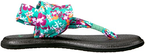Sling 2 Sanuk para Yoga Floral Waikiki Chanclas Mujer Prints Peacock 5Fqq1gpWw4