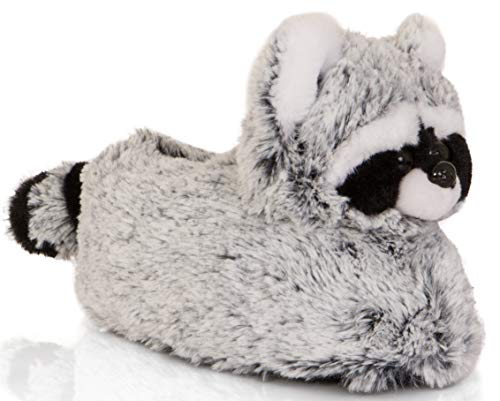 Animale Comodo Racoon Donna Boutique Loungeable Grey Pantofole Novità xTRZRwI