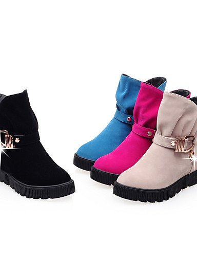 Pink Pink Cuña Uk3 Eu39 Uk3 Zapatos negro Botas Cn35 Uk6 Xzz A De Casual Tacón Cuñas us5 Redonda 5 La us8 Vestido Eu36 Azul Vellón Moda Punta Botines 5 Cn39 Mujer wUFBI4