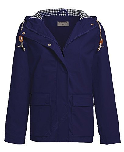 Parka impermeable azul Abrigo para marino mujer SS7 106qwE