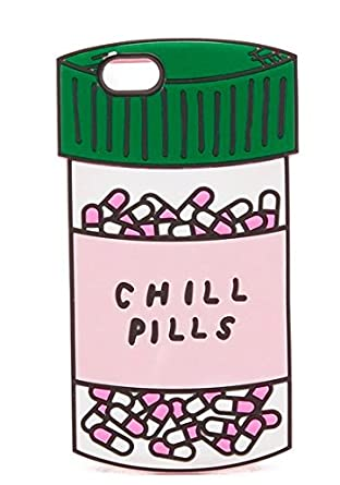 CHILL PILLS Apple IPhone SE Case 5 5s Back Covers Soft Silicone Material Gift