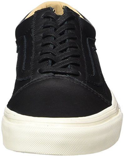 Noir Skool Leather Baskets Adulte porcini Old Vans Mixte lux Black Leather wqY1E