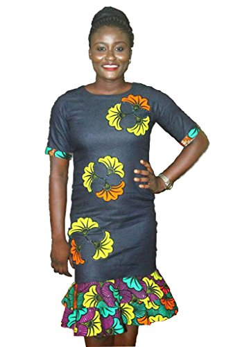 Good Quality Stretch Jeans and Ankara Dress (Large)