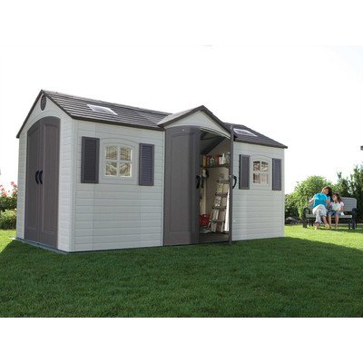 Lifetime 15x8 Dual Entry Shed
