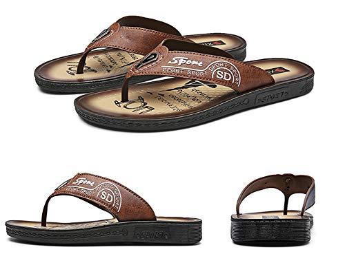 Infradito Uomo Sandali Scarpe Pantofole Sportivi Pelle Tqgold Comodi Piscina Per Da flop Blu Flip Spiaggia Estate E wqvAxT