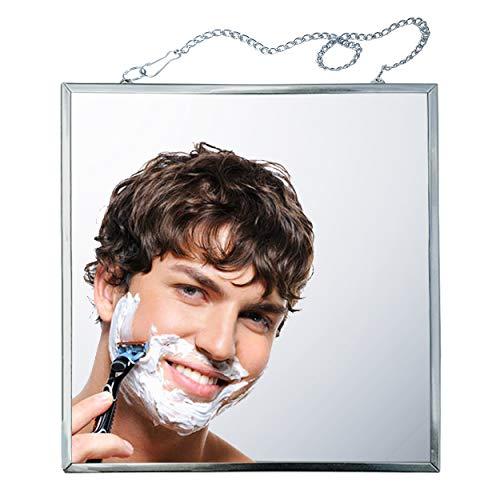 Fogless Shower Mirror,Adjustable Fog-Free Shower Mirror,Anti-Fog Shower Mirror with Metal Chain,Easily Eliminate -