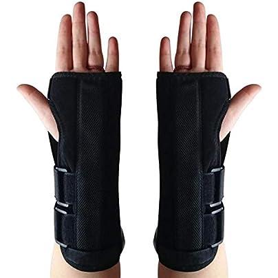 HUOYAN Wrist Brace Adjust Wristband Alloy Wrist Brace Wrist Support Splint Fractures Carpal Tunnel Sport Sprain Mouse Hand Wristbands Estimated Price £17.49 - £17.74 -