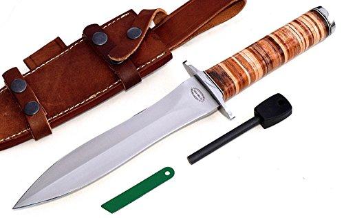 CFK Cutlery Company USA Custom Handmade US ARMY RANGER Combat Military Dagger Knife with Sheath & Fire Starter Rod Set CFK131 Review