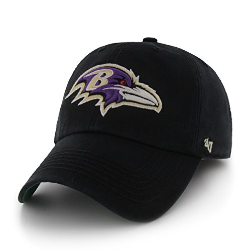NFL Baltimore Ravens '47 Brand Franchise Fitted Hat, Black, Medium Baltimore Ravens Black Fashion