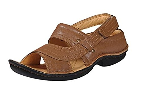 948590b28965d1 AUSTIN JUSTIN CHIEF RC0247 Tan MEN S BROWN Leather Sandals CASUAL and  Floaters  Buy Online at Low Prices in India - Amazon.in