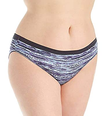 Just My Size Cool Comfort Cotton Assorted Bikini Panty- 5 Pack (1612C5)