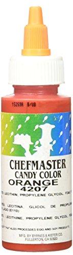 Chefmaster Liquid Candy Color, 2-Ounce, Orange