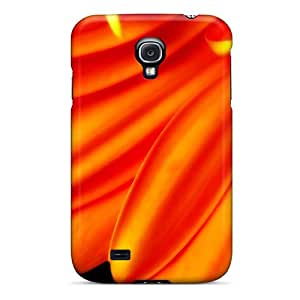 Galaxy S4 Cover Case - Eco-friendly Packaging(pure Orange Flower 1080p Hd)