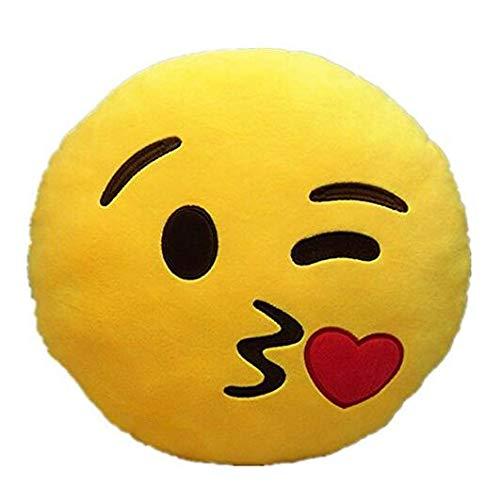 Hemore - Cojín de Peluche Suave con Emoticono Amarillo ...