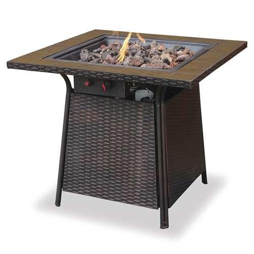 Bronze Outdoor Firebowl (Endless Summer, GAD1001B, LP Gas Outdoor Firebowl with Tile Mantel)