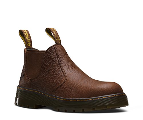 Dr. Martens Men's Rivet Steel Toe Chelsea Boot,Teak Pitstop Leather,UK 7 M by Dr. Martens
