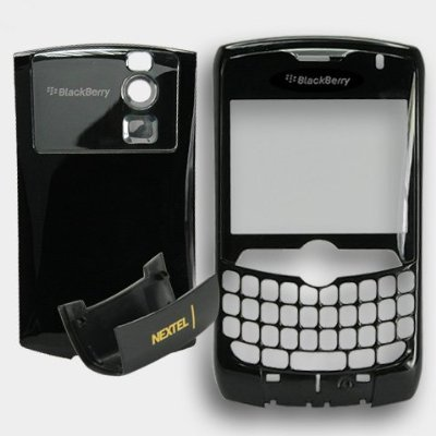 - BlackBerry 8350I Black Housing Faceplate Fascia Plate Panel Cover Case+Battery Back Door+Bottom Repair Replace Replacement